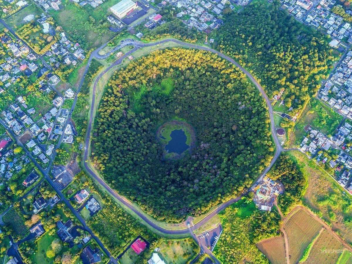 ¡Un volcán en mitad de la ciudad de Curepipe!